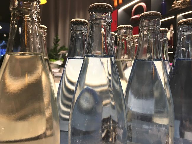 Restaurant Mineral Water Water Bottle Indoors  Drink Food And Drink Refreshment No People Drinking Glass Freshness