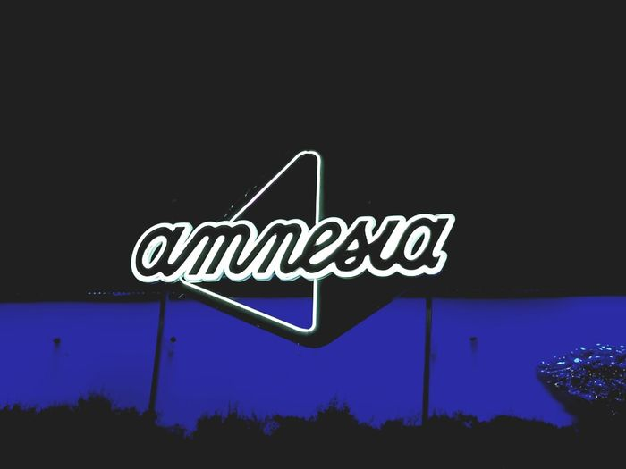 One love - Amnesia Ibiza 🖤 Night Neon Orthographic Symbol Close-up Text Communication No People Outdoors Road Sign Amnesia Amnesiaibiza Clubbing Ibiza Ibiza 2017 Club Life Clubs Clubphotography Party Techno Party Time Disco CLUBLIFE Club Mate Dj DJing