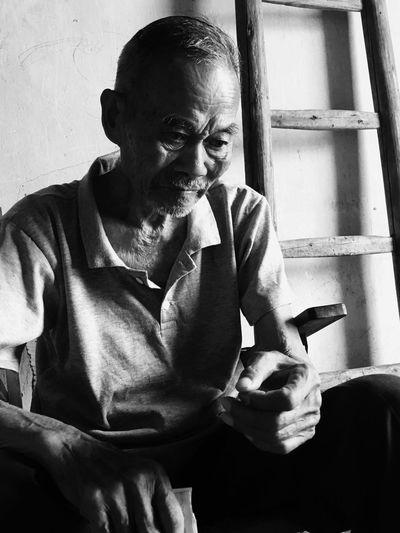 This Chinese old man is my grandfather. One Person EyeEm Selects