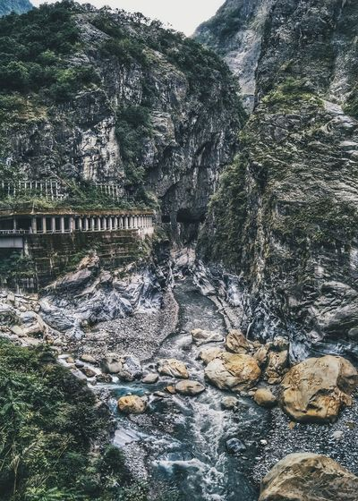 Lost In The Landscape Outdoors Nature Valley Stream River Gorge Canyon Cliff Taroko Textures Hiking Trail Taiwan Formations Marble Limestone Bucketlist Scenery Adventure Mountain Landmark Live Authentic Beauty In Nature HikeNhype Connected By Travel EyeEmNewHere Perspectives On Nature