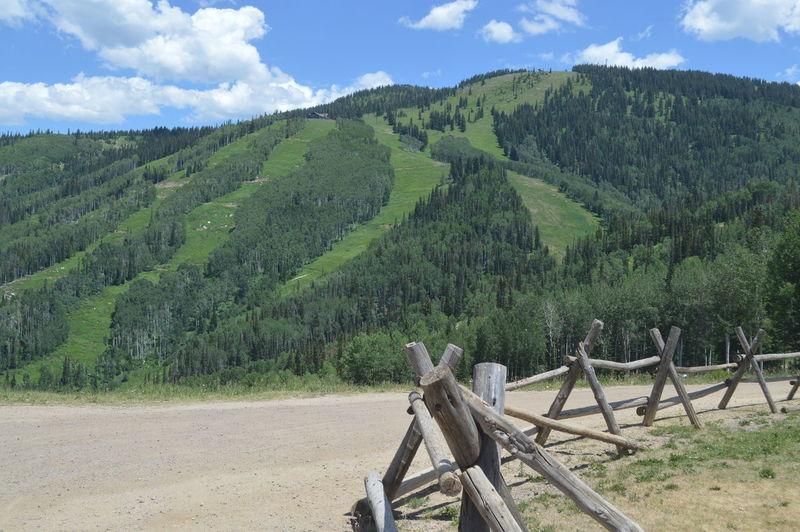 Idyllic Shot Of Green Mountain Against Sky