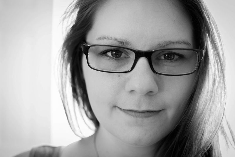 BnW Nikonphotography Nikon White Background Black Noir Et Blanc Montréal Autoportrait Selfie ✌ Selfportrait Self Portrait Blackandwhite Photography Black And White Blackandwhite Portrait Headshot Looking At Camera Glasses Close-up One Person Eyeglasses  Women Young Adult Real People Human Face Females
