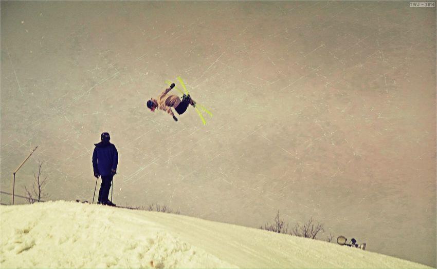 Skiing Park Slope Snowboarding
