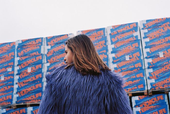35mm Film Analogue Photography Film Ishootfilm Analog Facing Away Film Photography Filmisnotdead Fur Coat Lifestyles Outdoors People Standing Warehouse Warm Clothing Young Adult Young Women