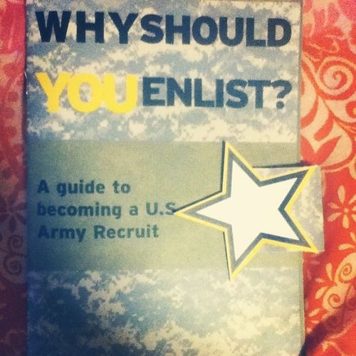 My multipage recruitment book Army ArmyStrong Enlistment