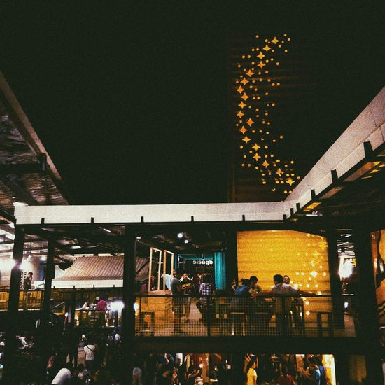 Night-out with the highschool bestbuds Night Illuminated Friends Nightlights Nightography Built Structure Architecture Building Exterior First Eyeem Photo EyeEmNewHere Food Night