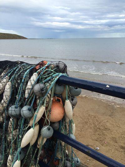 Filey Fishermen Nets Yorkshire Coast