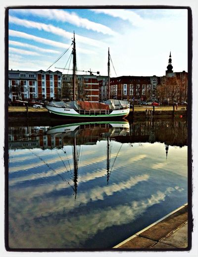 Hafen Spiegelung Pfützenbilder