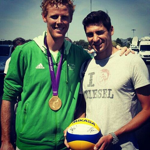"""A disaster #news today: Our GER beach boy Jonas #Reckermann is retiring from beach #volleyball because of back problems. I'm disappointed but know his typical problems since 2006. To understand is, """"decision is very difficult for me for various reasons, b Fivb Blocker News Games Beachvolleyball Champion Volleyball Olympic Reckermann Brink"""