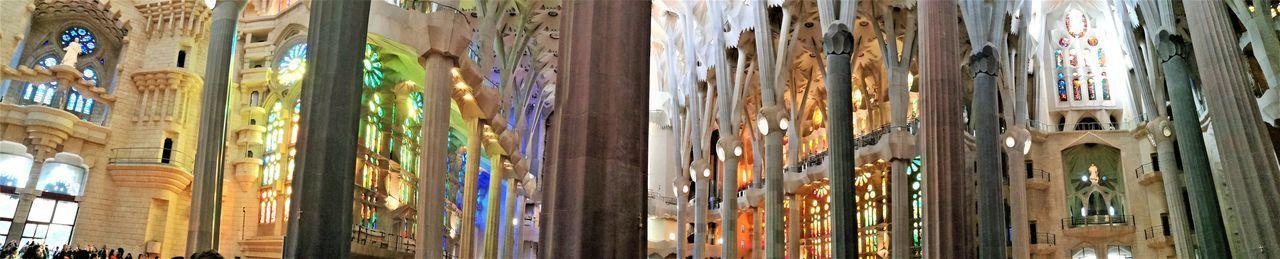 Architecture Built Structure Church Architecture Gaudì Architecture Work Indoors  Large View  Low Angle View Multi Colored No People Sagradafamilia Sagradafamiliachurch Travel Destinations
