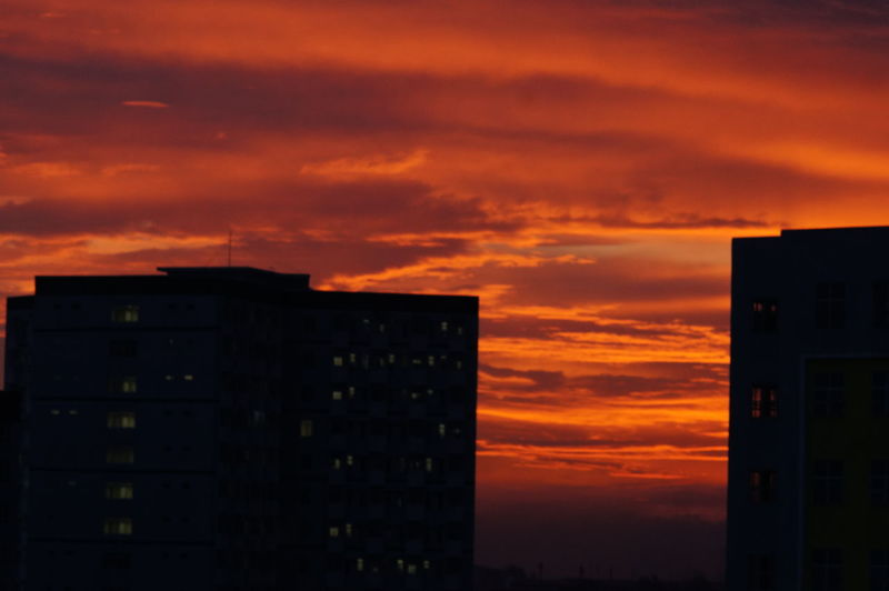 Architecture Beauty In Nature Building Exterior Built Structure City Cloud - Sky Factory Nature No People Orange Color Outdoors Sky Sunset