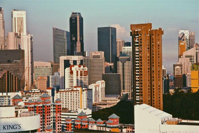 Oh my singapore Spring Singapore ASIA Love Colours Buildings City Urban Skyline Skyscraper City Life Sunset