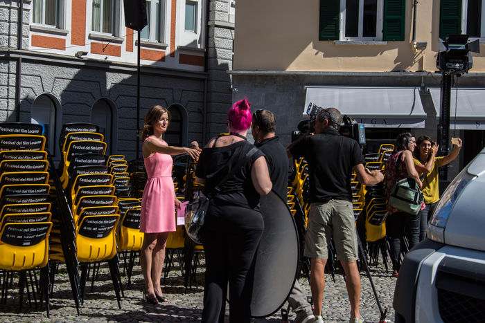 Battle Of The Cities Festival Fever Locarno Film Festival Outdoors People And Places Recording Session TROUPE Tv Rsi The City Light