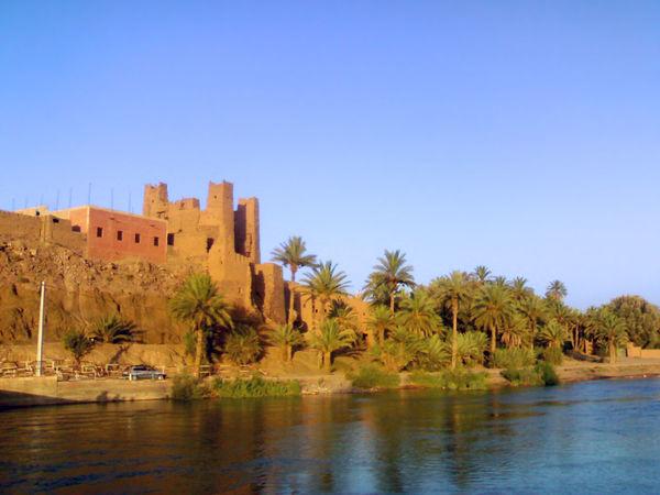 kasbah in zagora Clear Sky Kasbah Lake Moroccan Oasis Morocco Morocco Beauty Oasis Ouarzazate Revere Sahara Sky South Morocco Water Water Reflection Zagora Zagora Desert