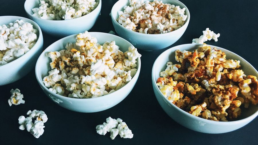 EyeEm Selects EyeEm Selects Popcorns High Angle View Food And Drink No People Bowl Table Indoors  Close-up Food Popcorn