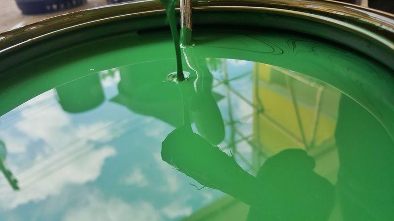 Green Color Close-up No People Day DULUX Color Paint Brush Paint Bucket Colorful Design Pallette Colour DuluxVizualizer Paint Architecture Painting Splash Of Color Multi Colored Decoration Construction Construction Site Reflection Painter