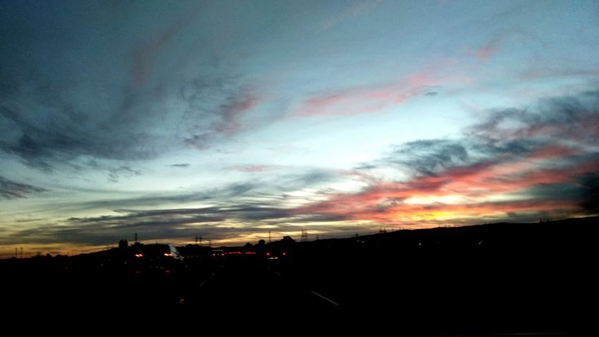 Cloud - Sky Sunset Smartphone Photographer Dramatic Sky Beauty In Nature From My Point Of View Silhouette Smartphone Photography Calisky Nor Cal Commuting Smart Phone Photographer Evening Sky Dusk CaliLife On The Move