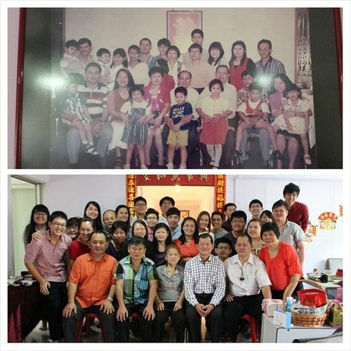 Ever since 1995 since we took a family photo I have never ever recalled a time where ALL OF US came together and took a photo. I'm glad @carolwongwongwong and I made it happen on 马年初一! Family Portrait Photos Cny2014 马年初一 day1 fun cousins aunties uncles