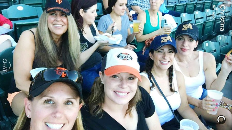 Pretty girls do smile Girls Baseball Rivercats Sacramento Beautiful Smile