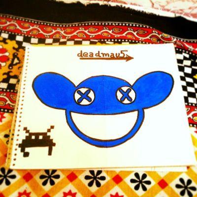 Deadmau5 Fanart Mau5head Blue mau5tattoo......... :) @followback_edm tags20play