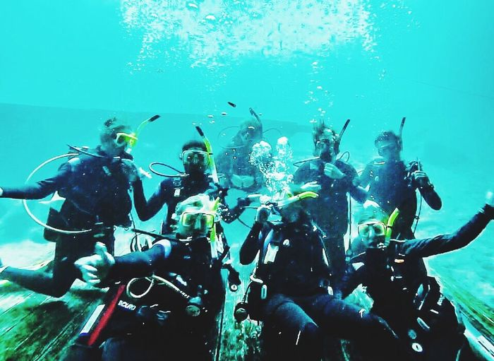 That feeling of weightlessness Scuba Diving Team Dive In Go Pro Hero 3 Fish Swimming That's Me Relaxing Padi
