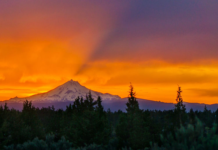 Sunset over Mt Jefferson, OR Beautiful Beauty In Nature Central Oregon Cloud - Sky Landscape Majestic Mountain Mountain Snow Mt Jefferson Nature No People Orange Color Oregon Outdoors Scenics Sky Sunset Tranquil Scene Tranquility Tree Wilderness
