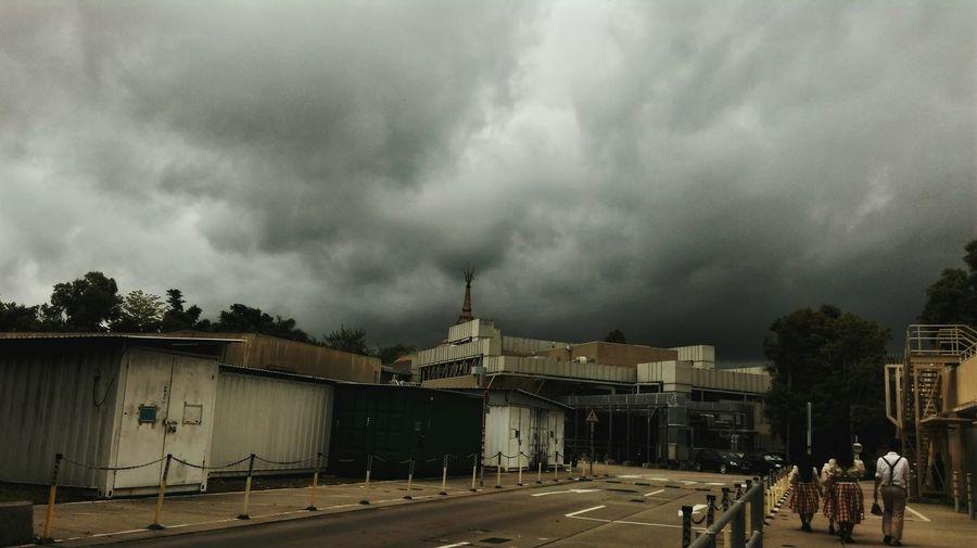 Black Clouds Taking Photos HongKong Hello World