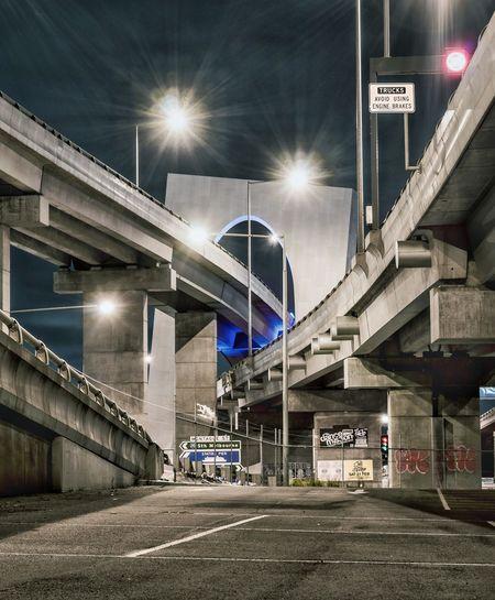 Illuminated Night City Bridge - Man Made Structure Transportation City Street Street Light City Street MelbournePhotographer Sony SONY A7ii Melbourne Melbourne City EyeEm Melbourne Australia Street Photography