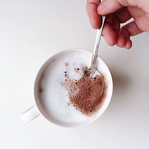 Coffee Coffee Time Capuchino Chococcino Foam Teaspoon Hand Foodie Food And Drink Chocolate Cup Coffee Break Top Perspective Fingers Yummy Cafe Au Lait Cafe Latte