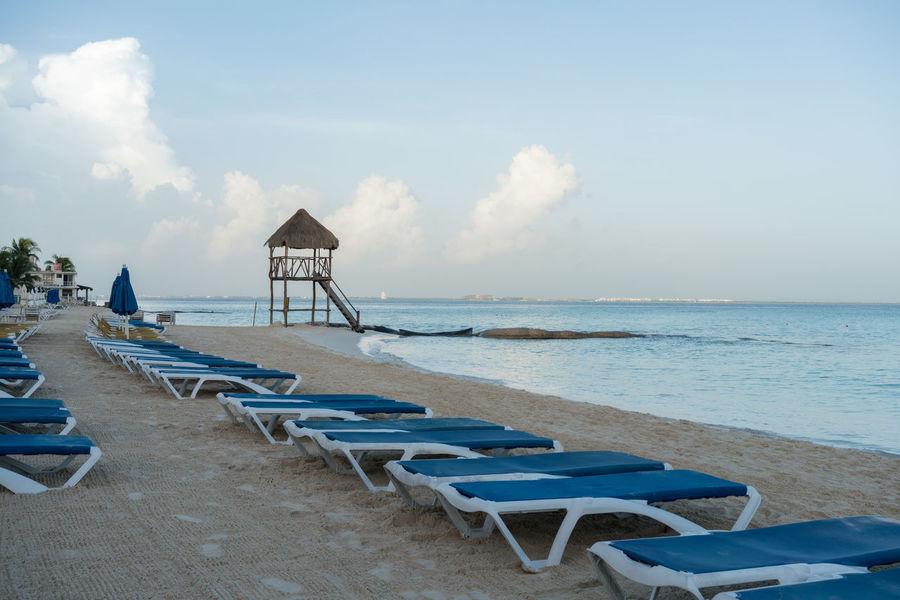 Playa Norte Beach in Isla Mujeres, Mexico Beach Beautiful Holiday Ils Ilsand Lounge Mexico Morning Mujeres Norte Playa Playa Norte Resort Sand Sea Sea And Sky Serenity Summer