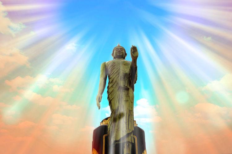 Buddha statue at Wat tasao (วัดตาเสา) Buddha Image Buddha Monthon Low Angle View No People Phutthamonthon Religion