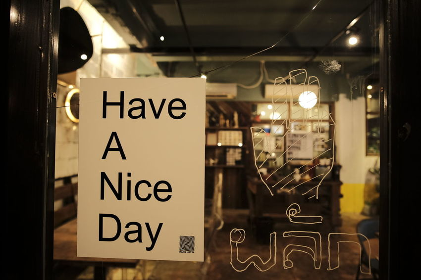 Construction Structure Ideas Concept Design Construction Sign Restaurant Notice Greet Thankyou Happiness Have A Nice Day♥ Door Entrance Push Design Dinner Eating Enjoying Life Feeling Good Text Indoors  Communication