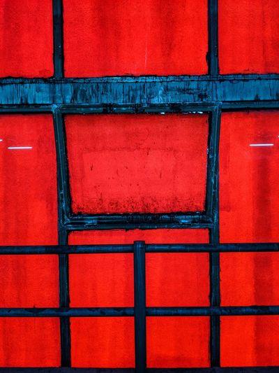 Full frame shot of red building