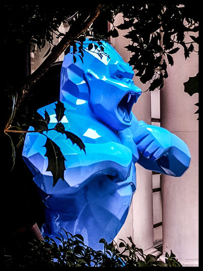 You shall not pass Blue Sculpture King Kong City Of London London Street Photography Fresh On Eyeem  Lampwick Nicholas Nelson Xavier Veilhan