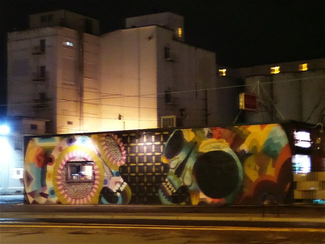 Street Light Cities At Night Street Art/graf Denver Colorado  Change Is Everywhere