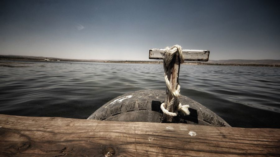 Water Wood - Material Sea No People Outdoors Nature Rippled Day Wooden Post Sky Beauty In Nature Close-up