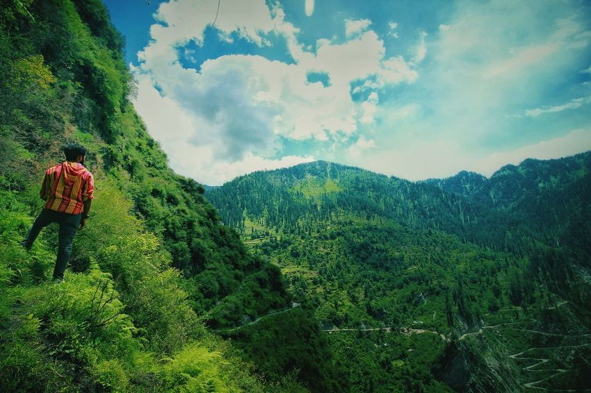 Mountain Hiking Nature Cloud - Sky Two People Scenics Sky Real People Growth Beauty In Nature Adventure Outdoors Adults Only Men People Day Tea Crop Adult Full Length Man Profile Malana Magic Valley Himalayas