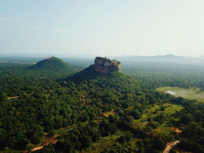 Sigiriya Rock / Sri Lanka Gardens Lion Rock King Palace Hiking Climbing Backpack Travel Sigiriya Rock Sigiriya ASIA Dji DJI Mavic Pro Drone  Sri Lanka Landscape Nature Green Color Beauty In Nature Scenics Tranquility No People Clear Sky Sky Tree Day Outdoors Mountain Rural Scene first eyeem photo EyeEmNewHere