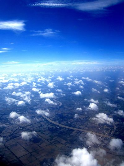 Beauty In Nature Blue Cloud Cloud - Sky Cloudscape Landscape Nature No People Outdoors Scenics Sky Tranquil Scene Tranquility