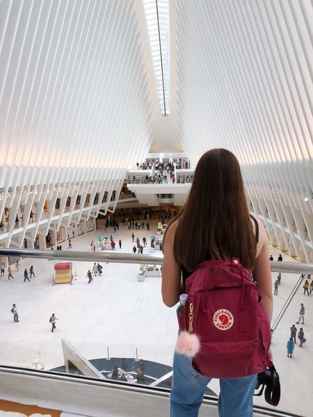 New York Oculus Rear View Real People Architecture Built Structure Women One Person Adult Casual Clothing Lifestyles Day Long Hair Building Exterior Standing Travel It's About The Journey