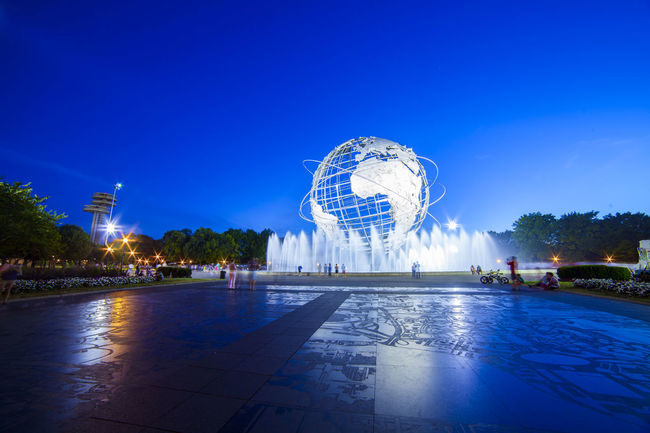 Queens unisphere. Queens NYC Photography New York NYC Usopen Long Exposure Nightphotography Bluehour Nighttime Traveling