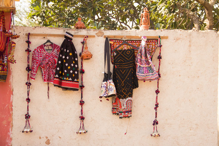 Wearable Decor? Architecture Artistic Colourful Costume Day Decor Desert Handicraft Handmade Hanging India Inspiration Interior Decorating Mud Hut No People Outdoors Retail  Retail Display Rustic Shop Textiles Traditional Clothing Travel Tree Visual Merchandising