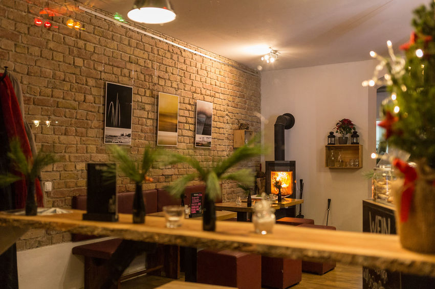 Café Eigenzeit Berlin Café Eigenzeit Berlin Architecture Cafe Day Domestic Kitchen Domestic Room Home Interior Home Showcase Interior Illuminated Indoors  Kitchen No People Restaurant Table