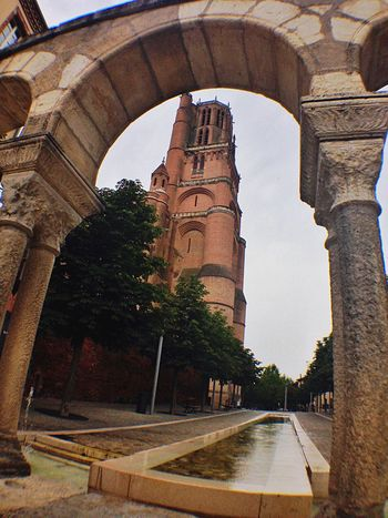 Albi Monument Church Churches Water Water Reflections Water Surface Cathedral France Arch Architecture Architecture_collection