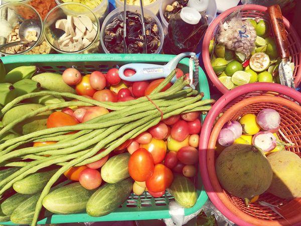 Papaya salad Vegetable Thailand Material Colorful Streetfood