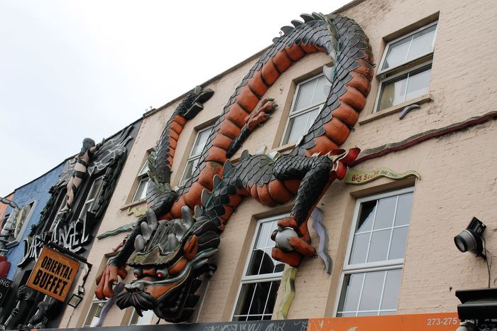 Architecture Building Exterior Built Structure China Chinese Dragon Day Dragon EyeEm Gallery Eyeem Market Hanging London Low Angle View No People Outdoors Sky Window