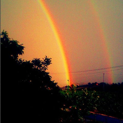 Double Rainbow ♥ ieri.. 🌈 Arcobaleno  Colori Pic Photo Ph Foto Images