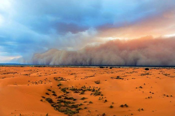 Sahara Desert Sandstorm Natural Dunes Of Merzouga Morocco 🇲🇦