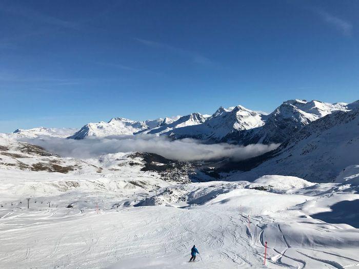 Swiss Ski slope No Edit/no Filter Graubünden Switzerland Arosa Snow Winter Cold Temperature Mountain Beauty In Nature Environment Sky Winter Sport Sport Holiday Travel Destinations Mountain Range Snowcapped Mountain