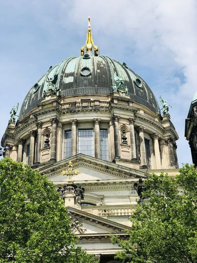 Trip to berlin. sightseeing. berliner dom view. city of berlin.